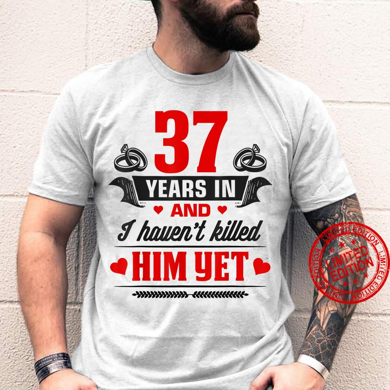 37th Wedding Anniversary Couples For Wife Her Shirt