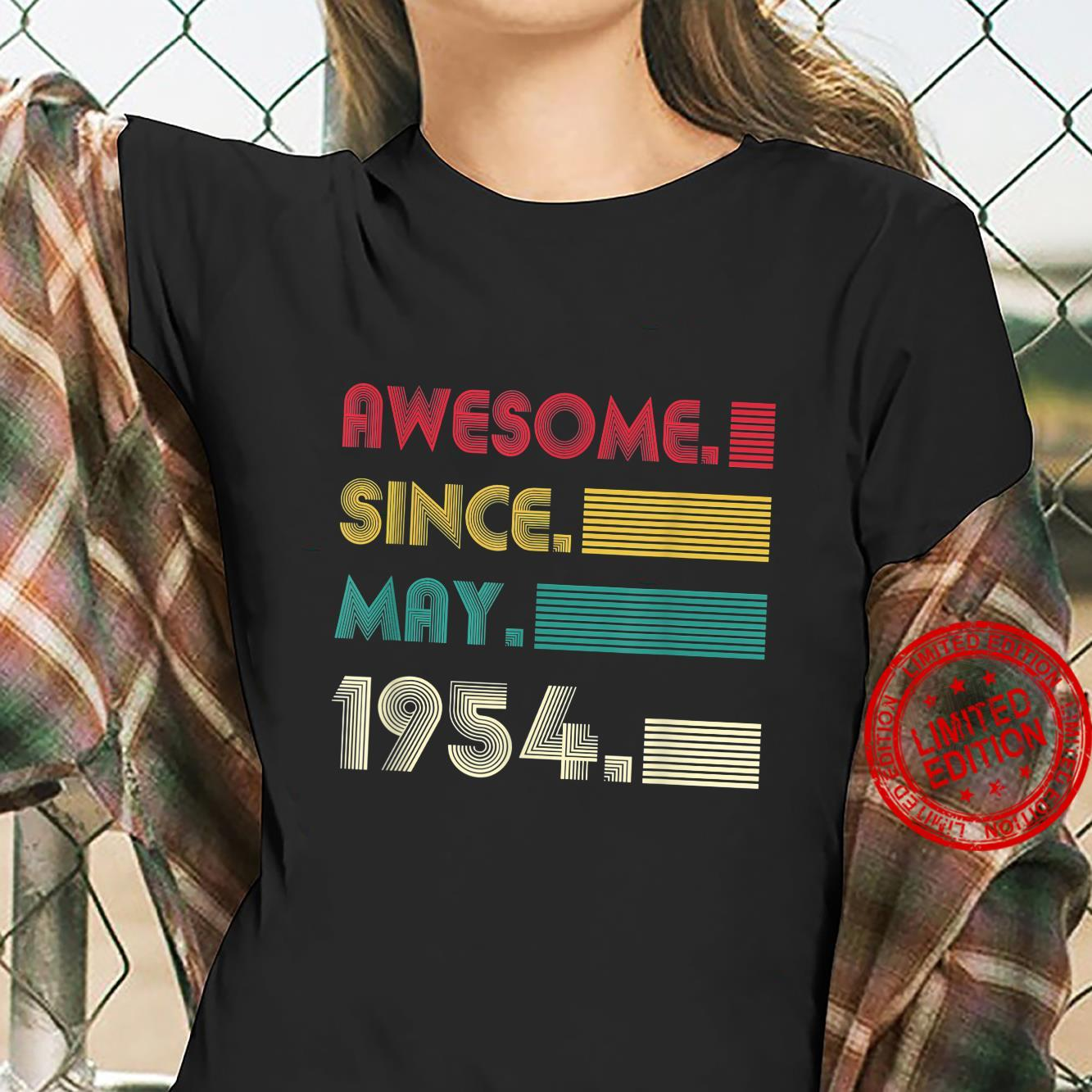 Awesome Since May 1954 67th Birthday 67Years Old Boy Shirt ladies tee