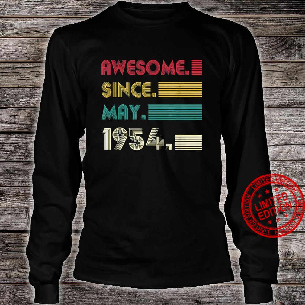 Awesome Since May 1954 67th Birthday 67Years Old Boy Shirt long sleeved