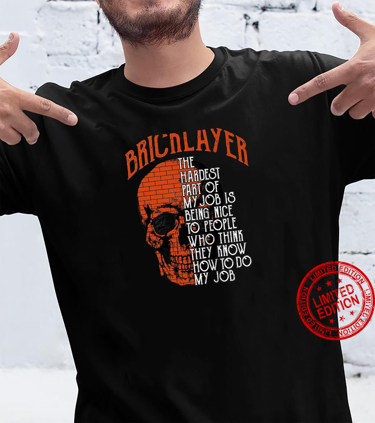 Bricklayer Cement Mason Design On Back Of Clothing Shirt