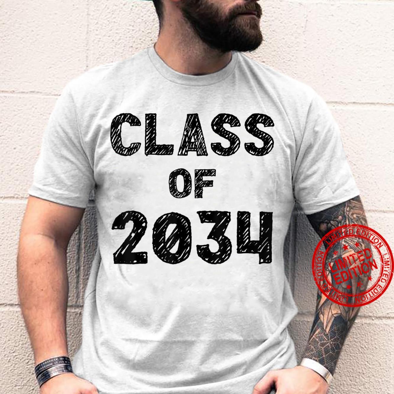 Class of 2034 First Day of Kindergarten Shirt