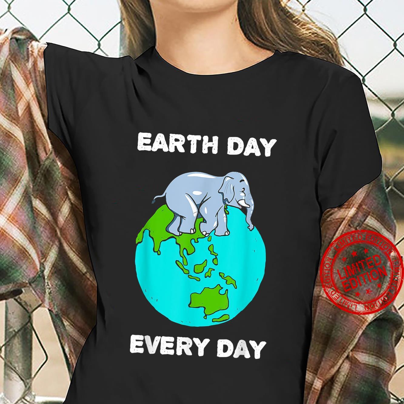 Elephant Everyday Save the Elephants Earth Day Shirt ladies tee