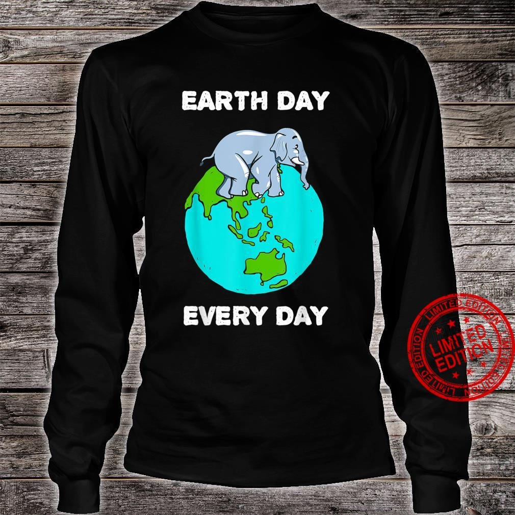 Elephant Everyday Save the Elephants Earth Day Shirt long sleeved