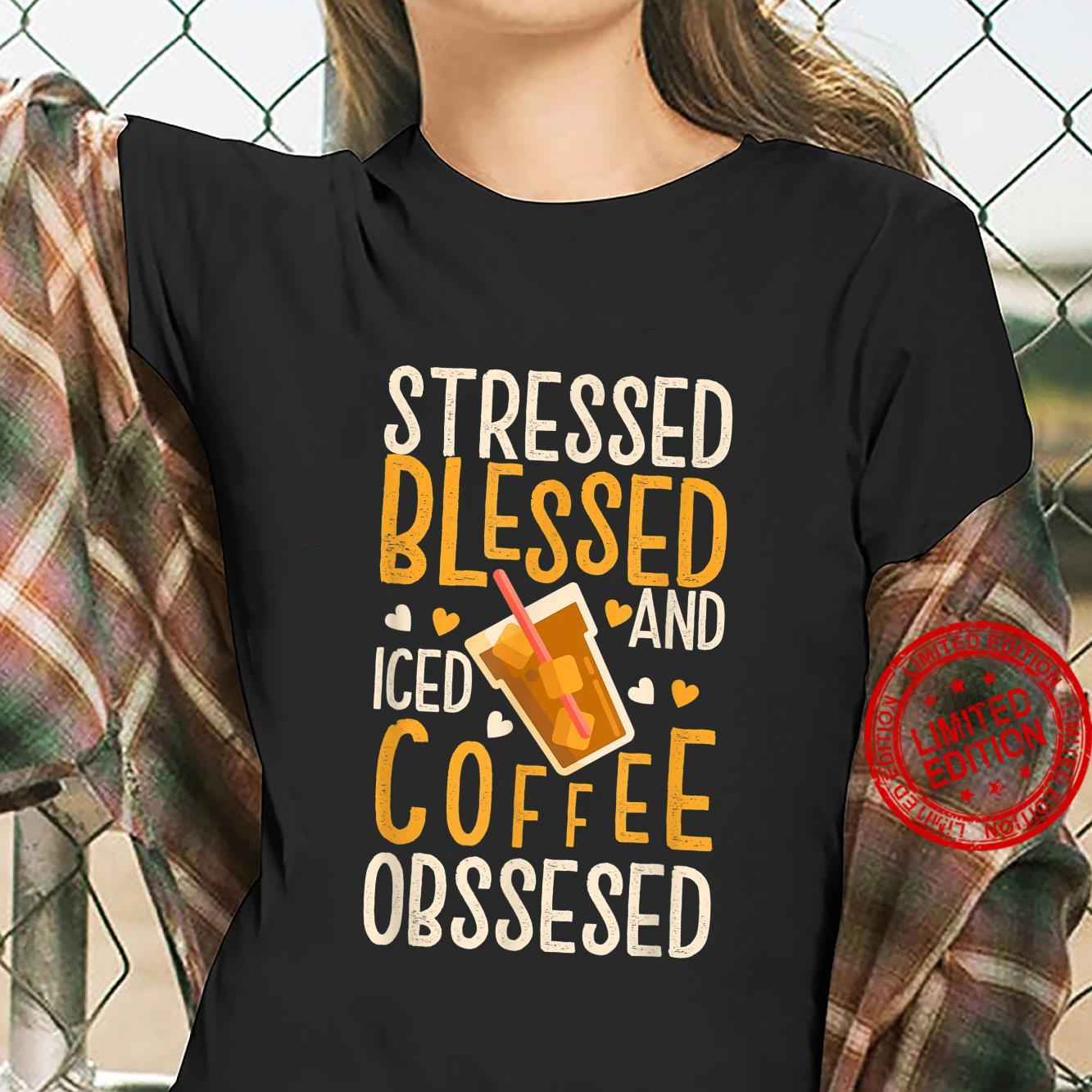 Funny Vintage Coffee Quotes for Iced Coffees Shirt ladies tee