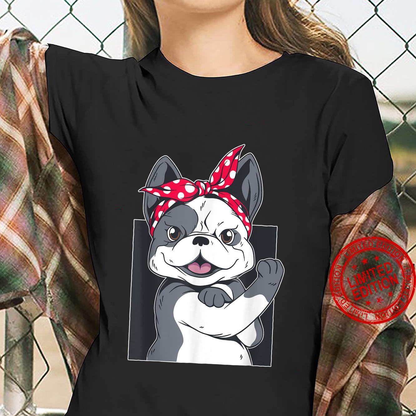 Funny vintage french bulldog Retro design bulldog Shirt ladies tee