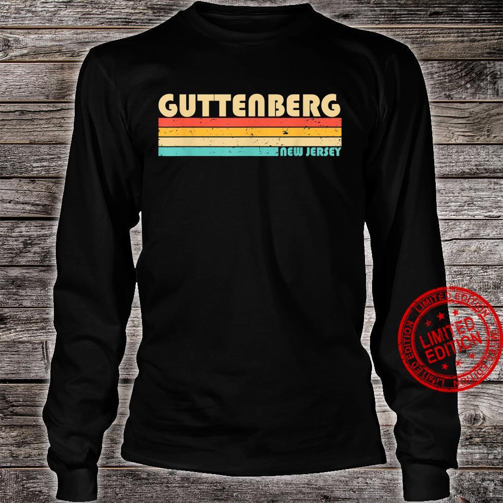 GUTTENBERG NJ NEW JERSEY City Home Roots Retro 70s 80s Shirt long sleeved