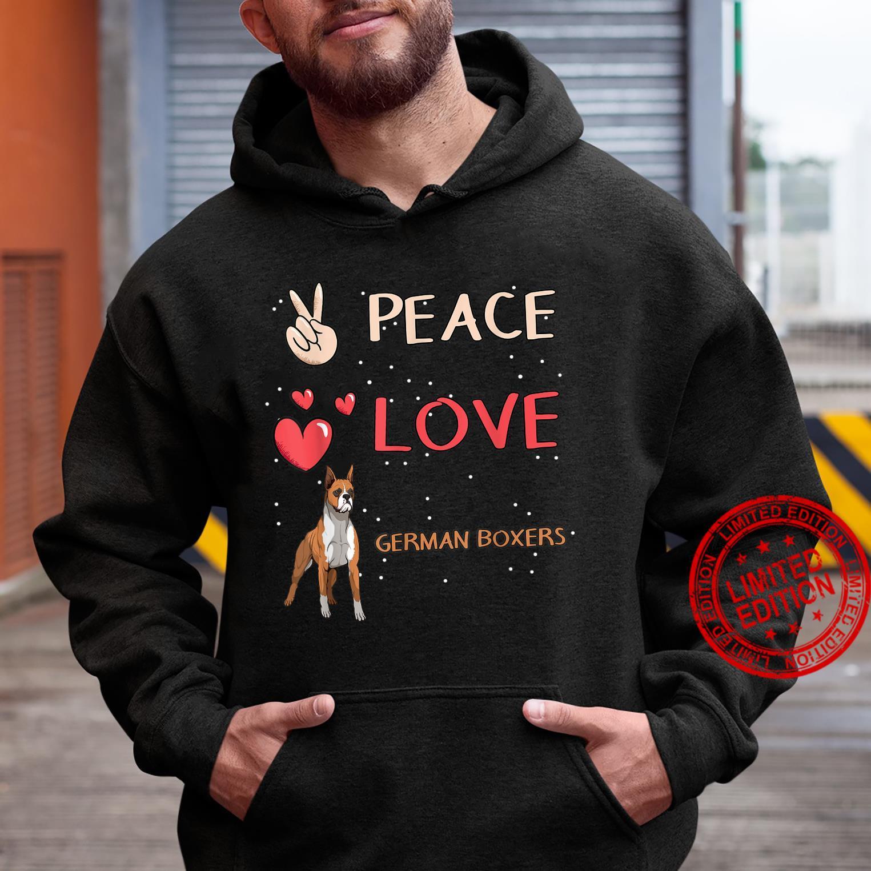 German Boxer Dog Owner Peace Love German Boxers Shirt hoodie