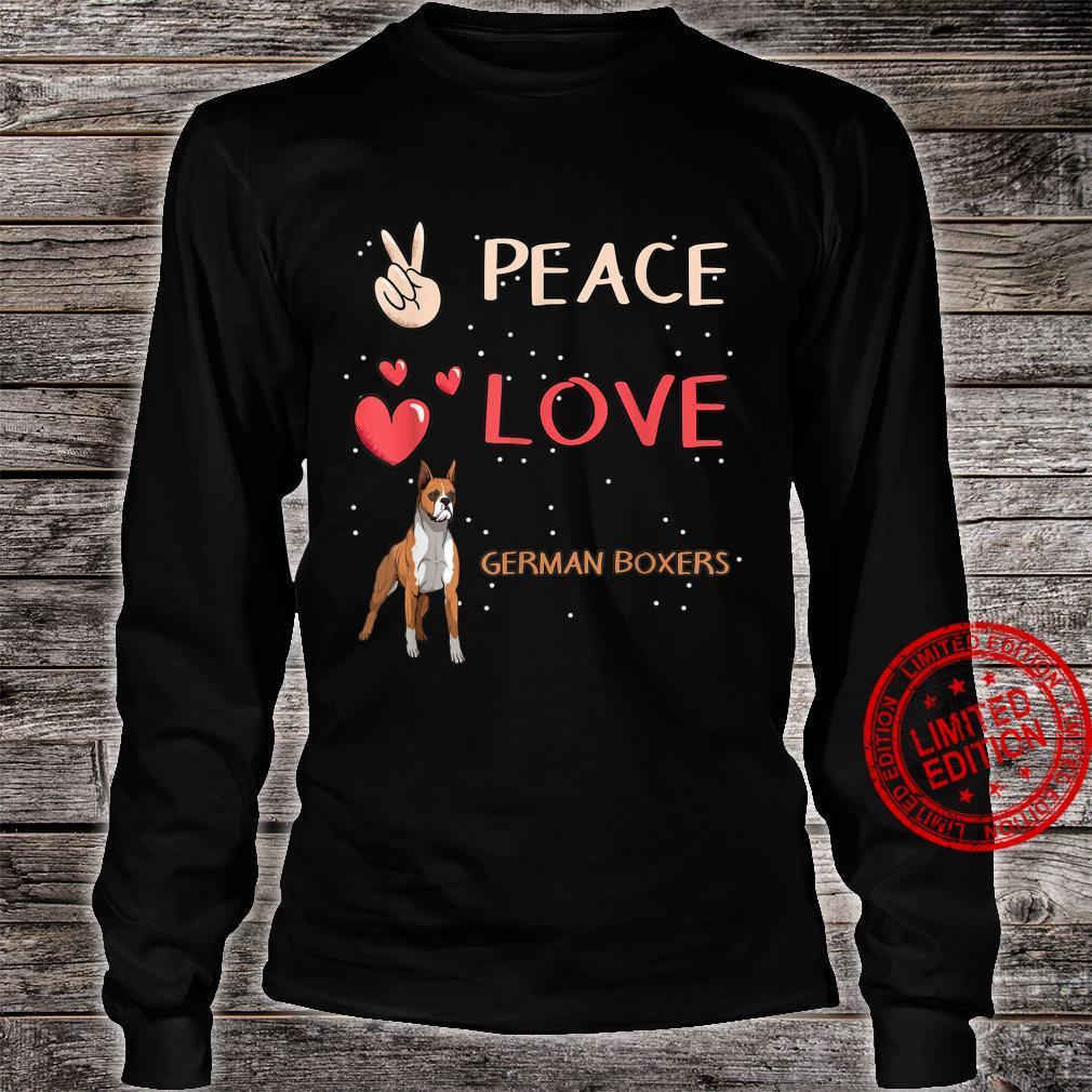 German Boxer Dog Owner Peace Love German Boxers Shirt long sleeved
