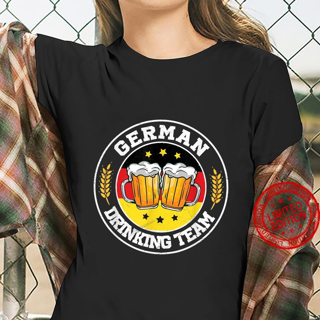 German Drinking Team Vintage Germany Flag Oktoberfest Shirt ladies tee