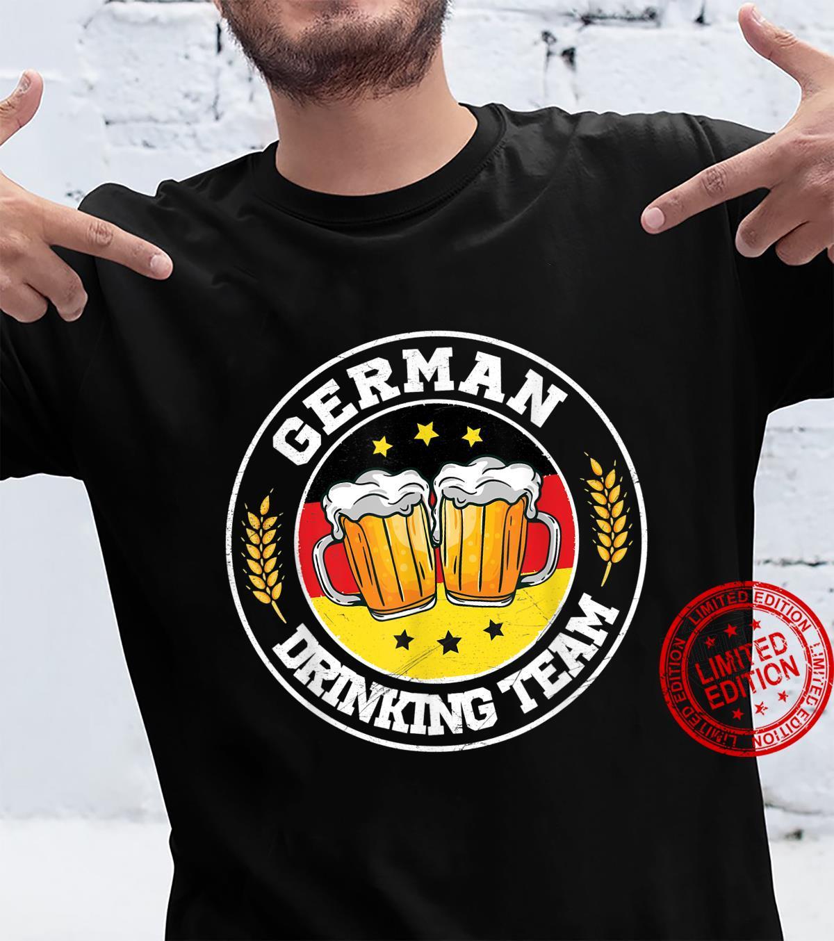 German Drinking Team Vintage Germany Flag Oktoberfest Shirt