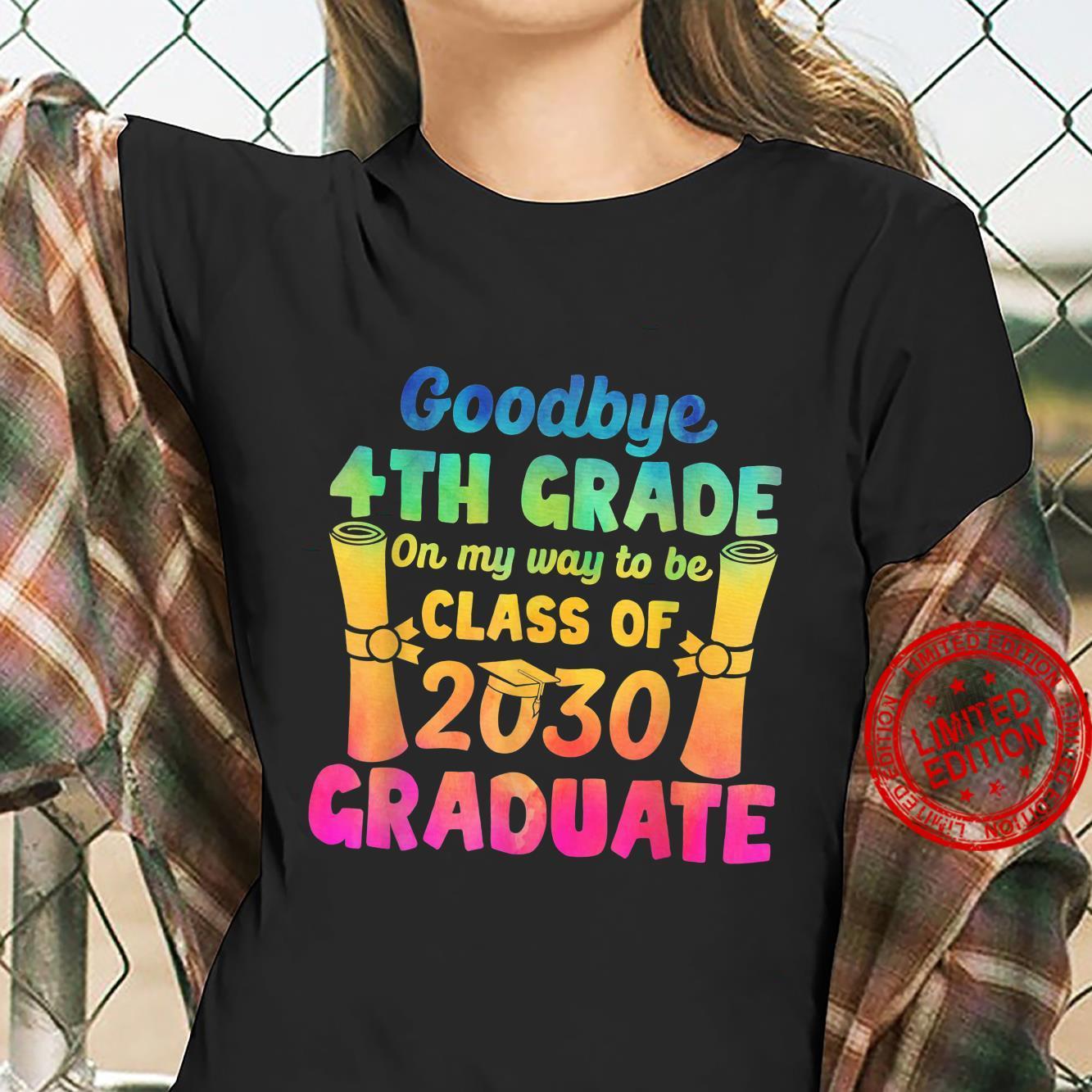 Goodbye 4th Grade Class of 2030 2021 Grad Hello 5th Grade Shirt ladies tee