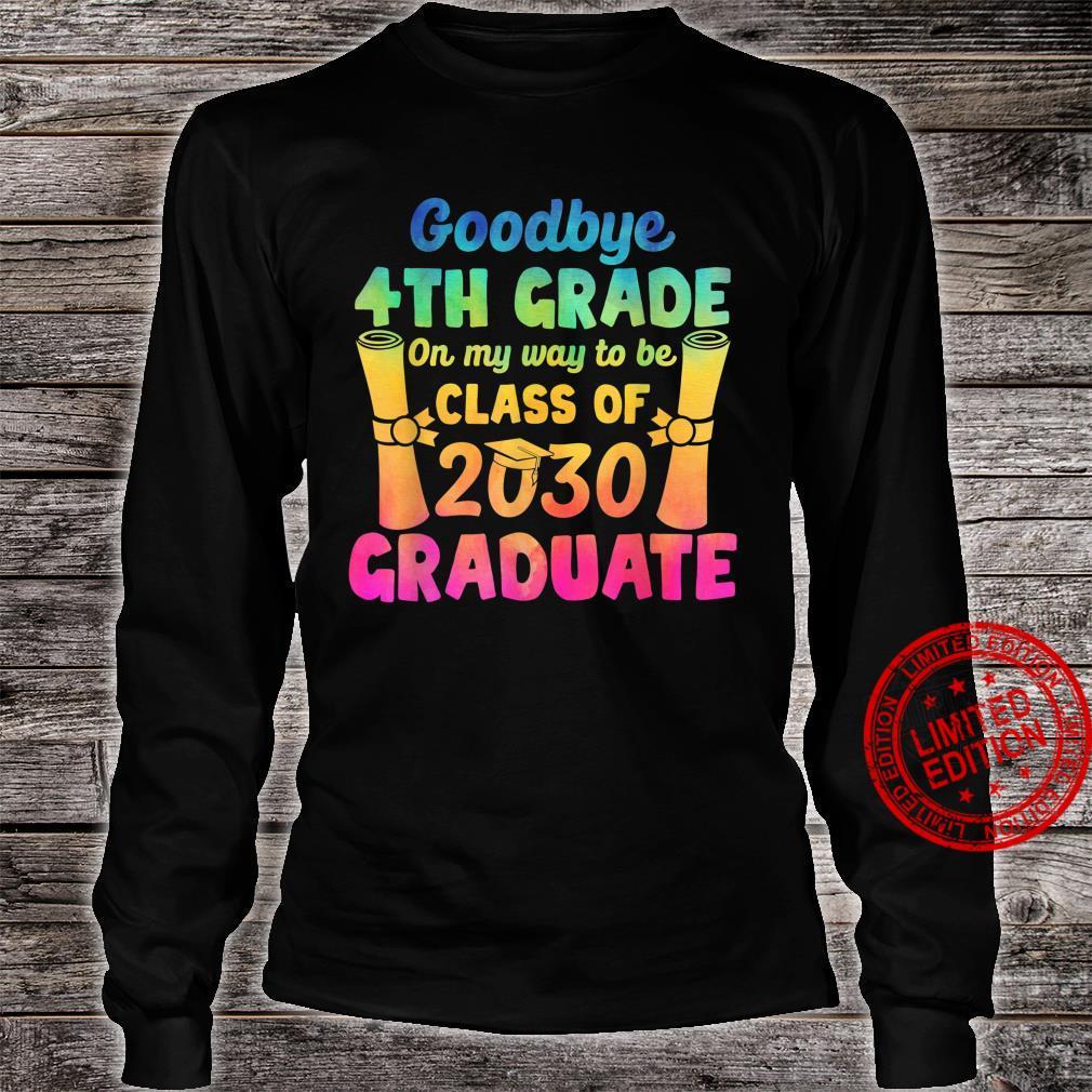 Goodbye 4th Grade Class of 2030 2021 Grad Hello 5th Grade Shirt long sleeved