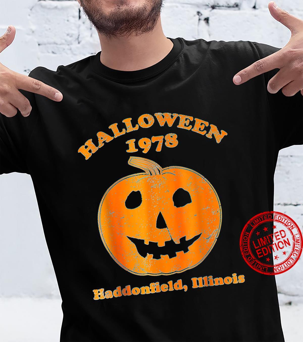 Halloween 1978 holiday spooky myers pumpkin haddonfield Shirt