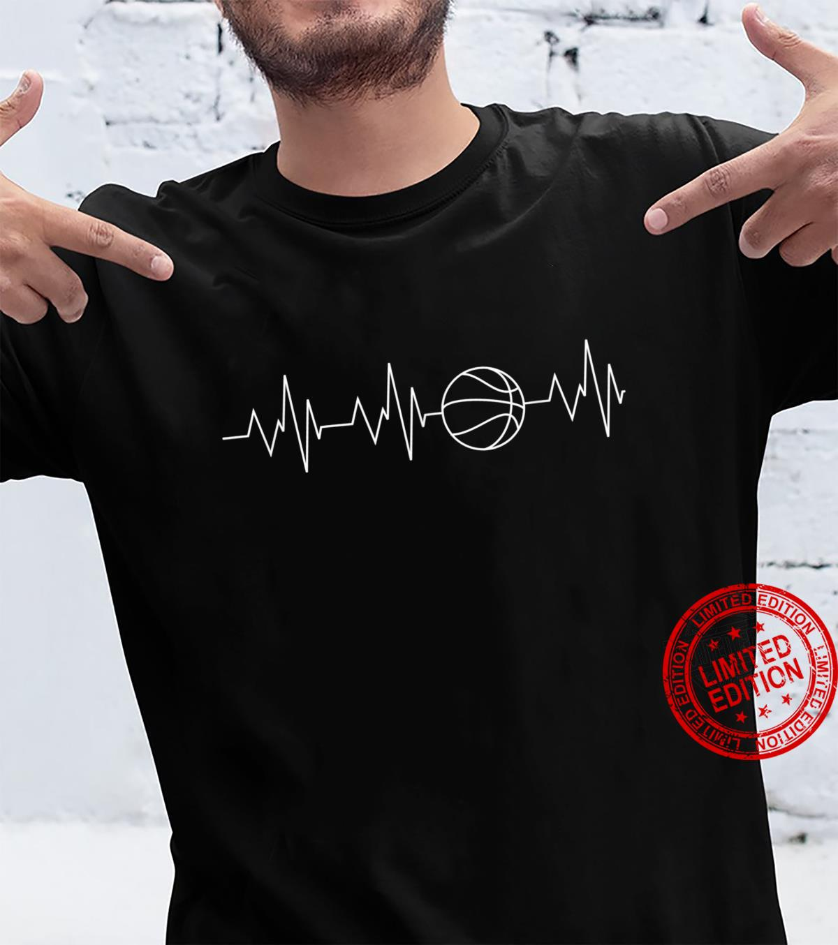 Heartbeat Basketball Frequency Dribbling Basketball Player Shirt