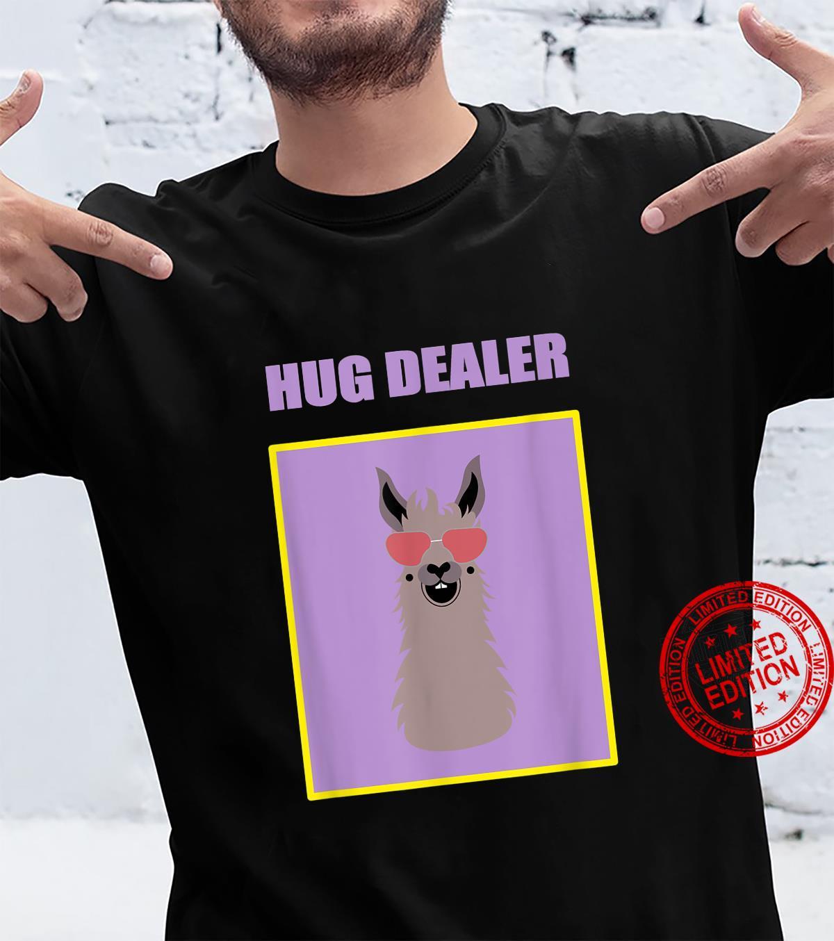 Hug Dealer Cool Llama Music Festival Touchy Free Hugs Huggin Shirt
