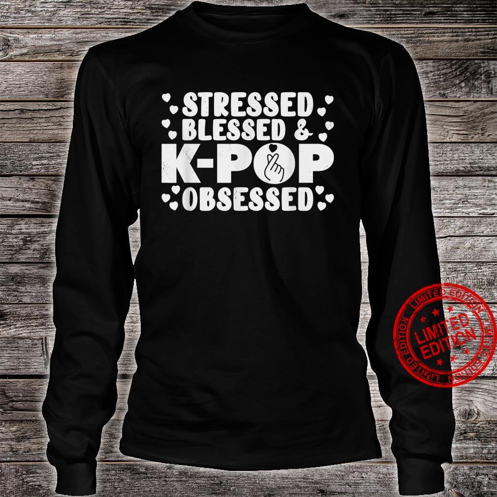 KPop Stressed Blessed Obsessed Korean Pop Music Albu Shirt long sleeved