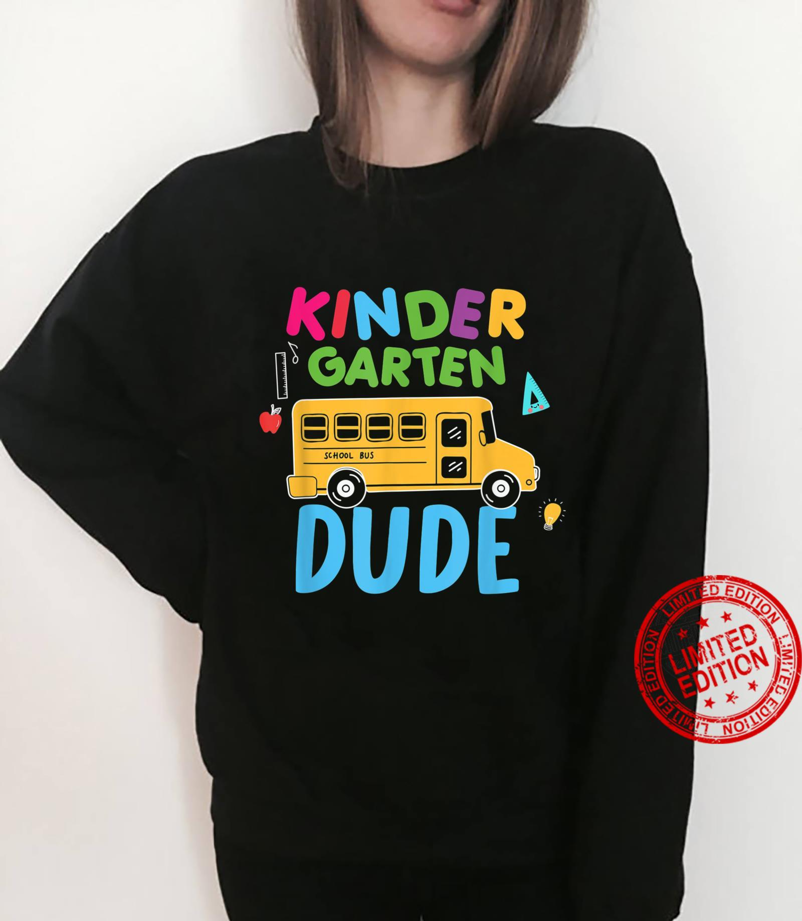Kindergarten Dude First Day Back To School Student Boys Shirt sweater