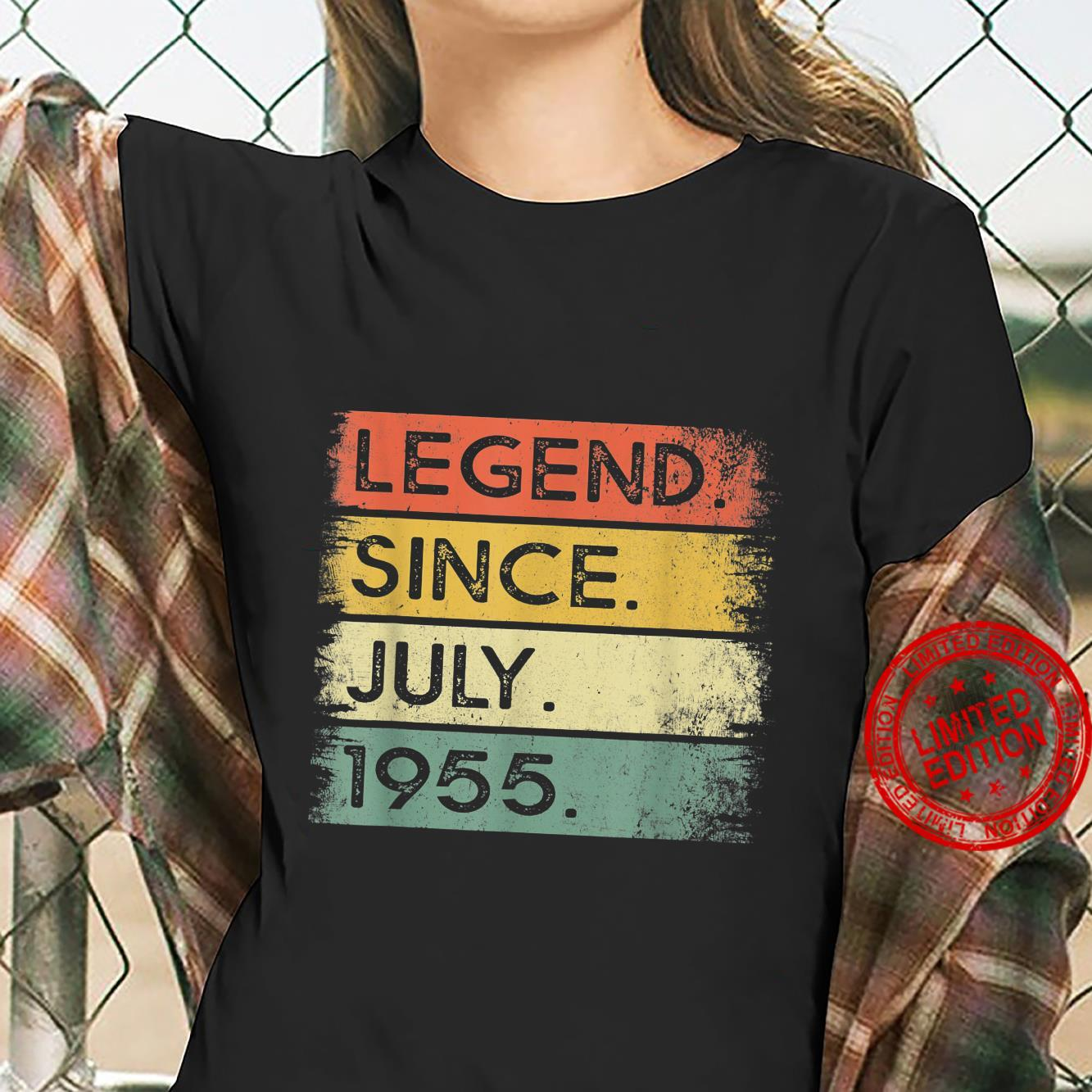 Legend Since July 1955 66th Birthday 66 Years Old Shirt ladies tee