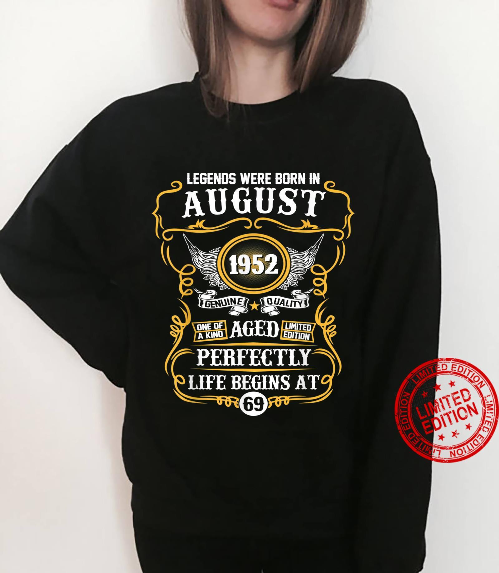 Legends Were Born In August 1952 69th Birthday Shirt sweater