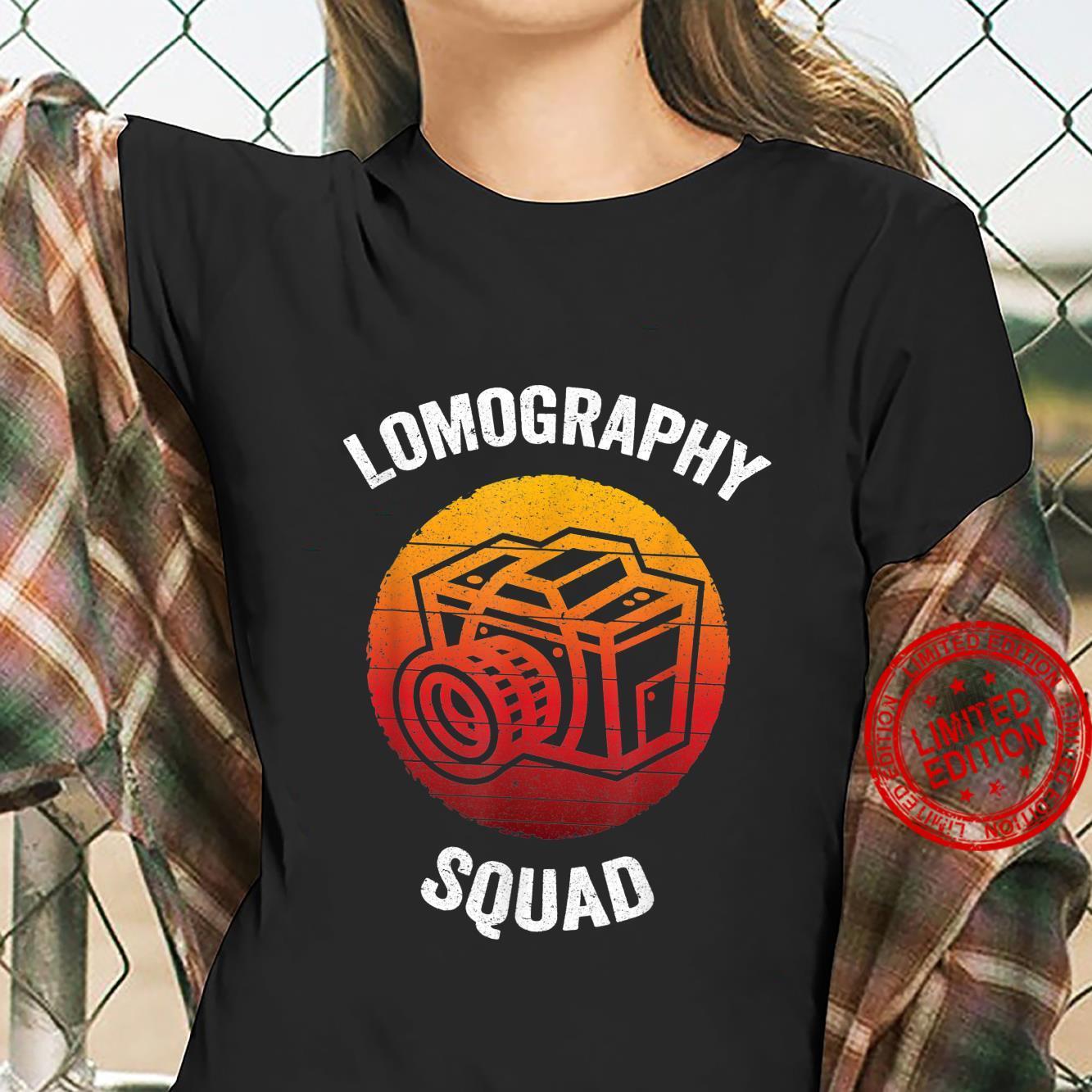 Lomography Squad Vintage Analog Camera Shirt ladies tee