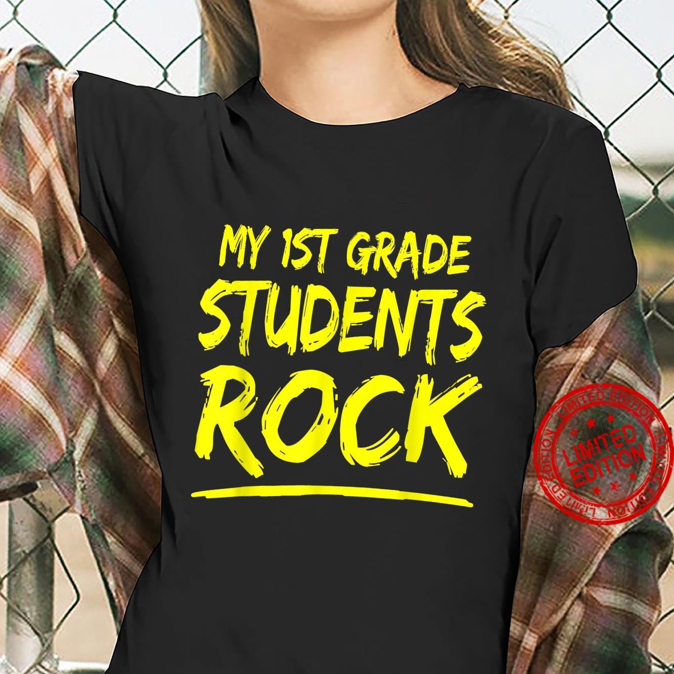 My First Grade Students Rock 1st Grade Children Teacher Shirt ladies tee
