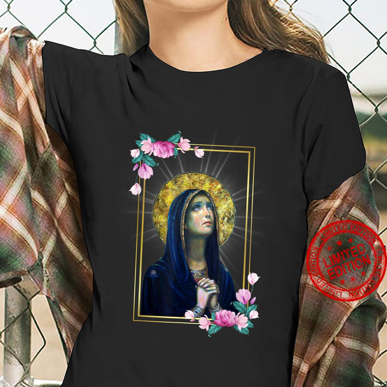 Our Lady of Sorrows Dolours Piety Mater Dolorosa Virgin Mary Shirt ladies tee