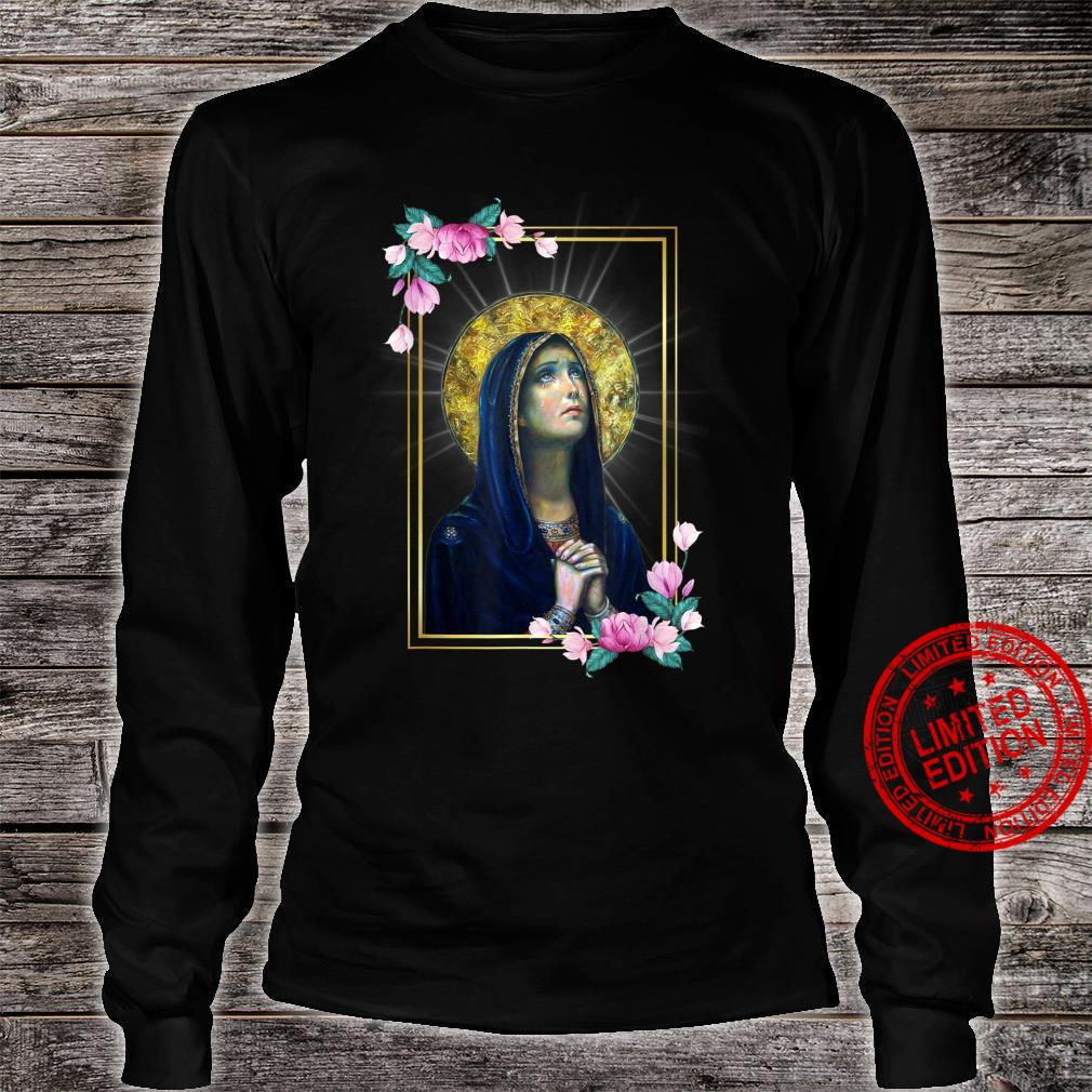 Our Lady of Sorrows Dolours Piety Mater Dolorosa Virgin Mary Shirt long sleeved