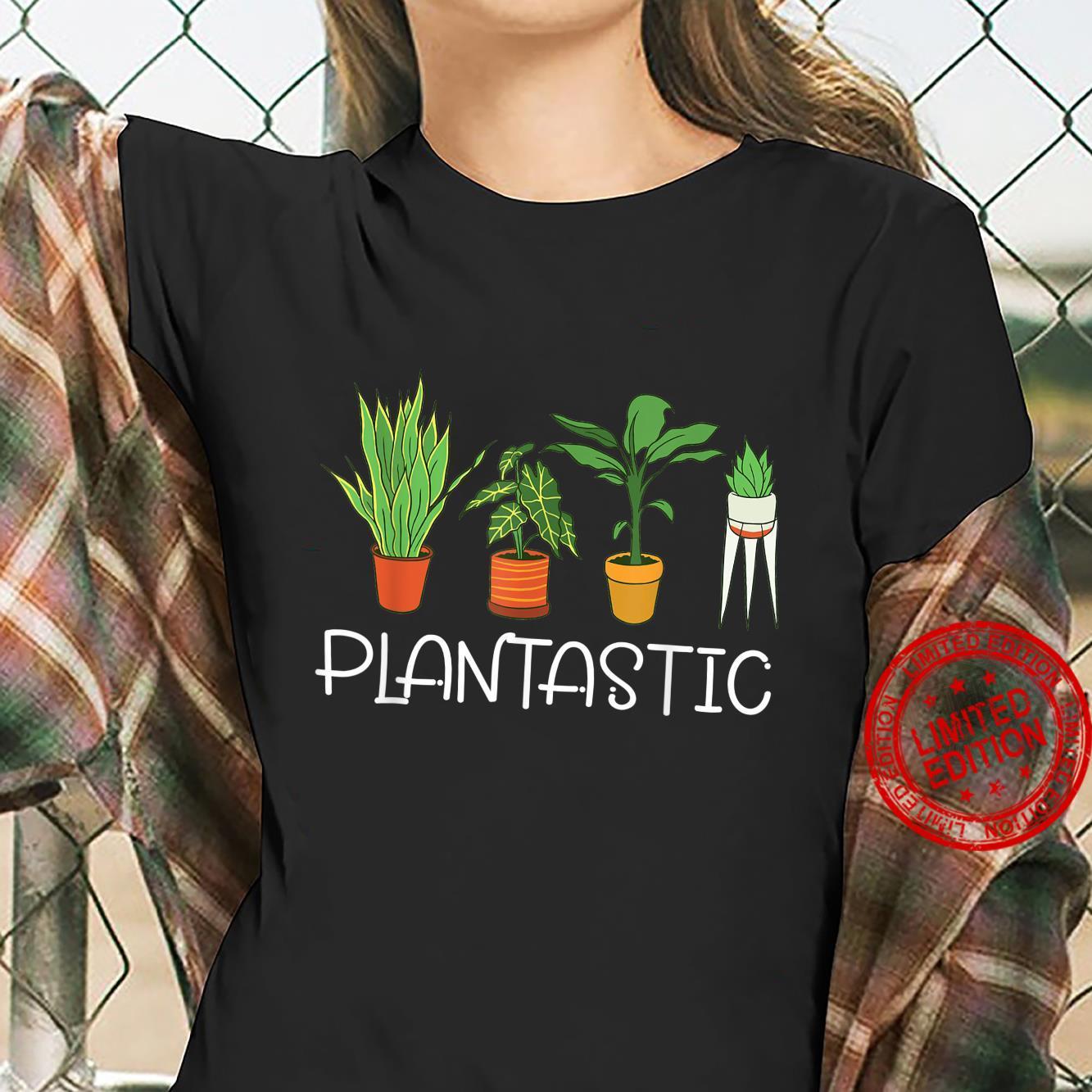 Plantastic Plants Planting Gardening Vegan Gardener Shirt ladies tee