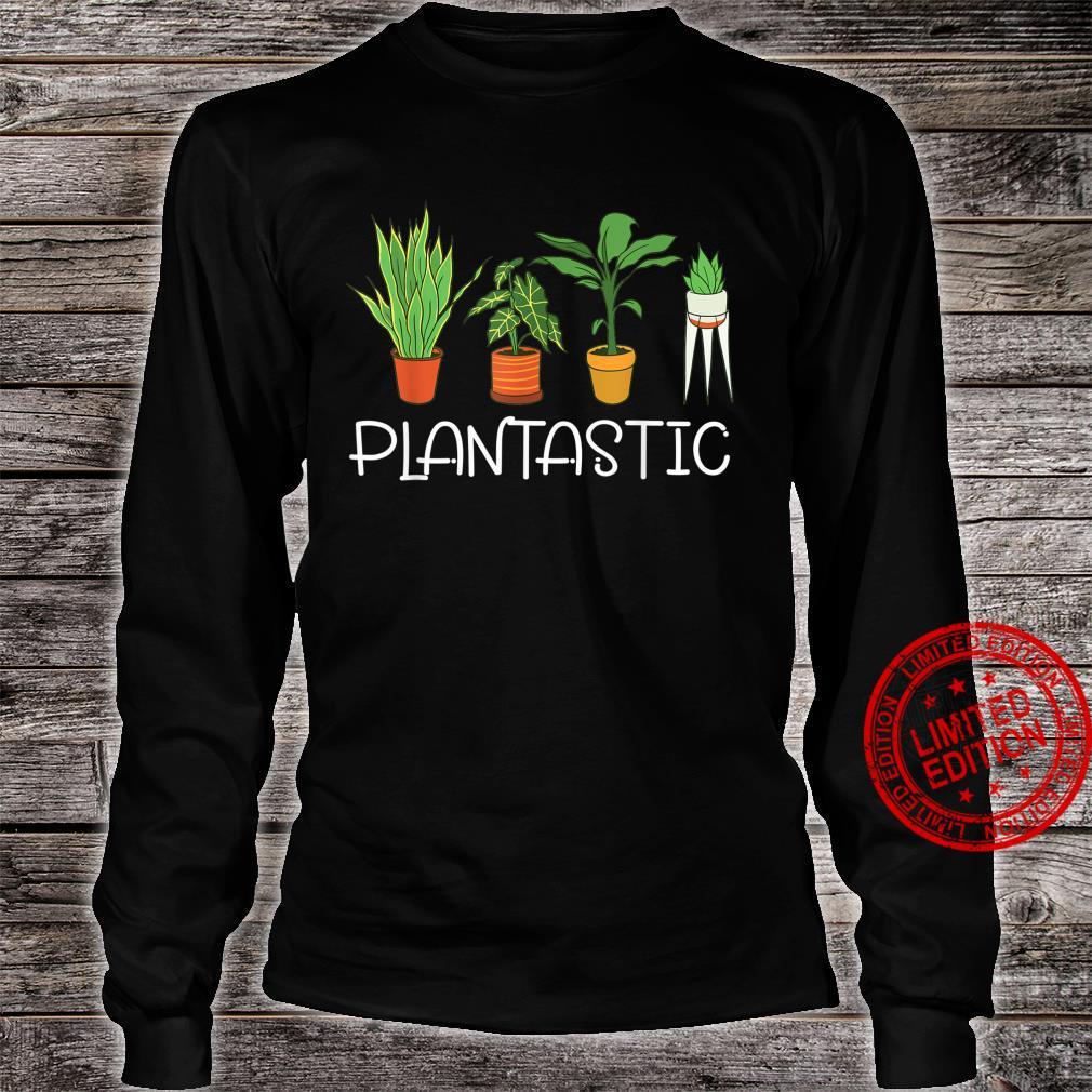 Plantastic Plants Planting Gardening Vegan Gardener Shirt long sleeved