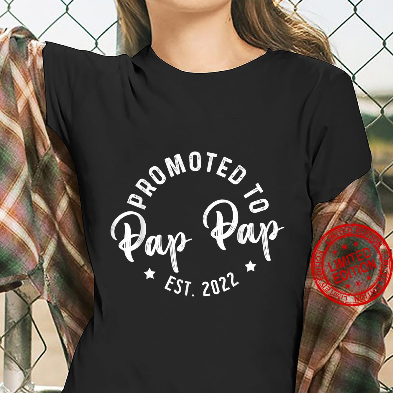 Promoted To Pap Pap 2022 Fathers Day For Grandpa Christmas Shirt ladies tee