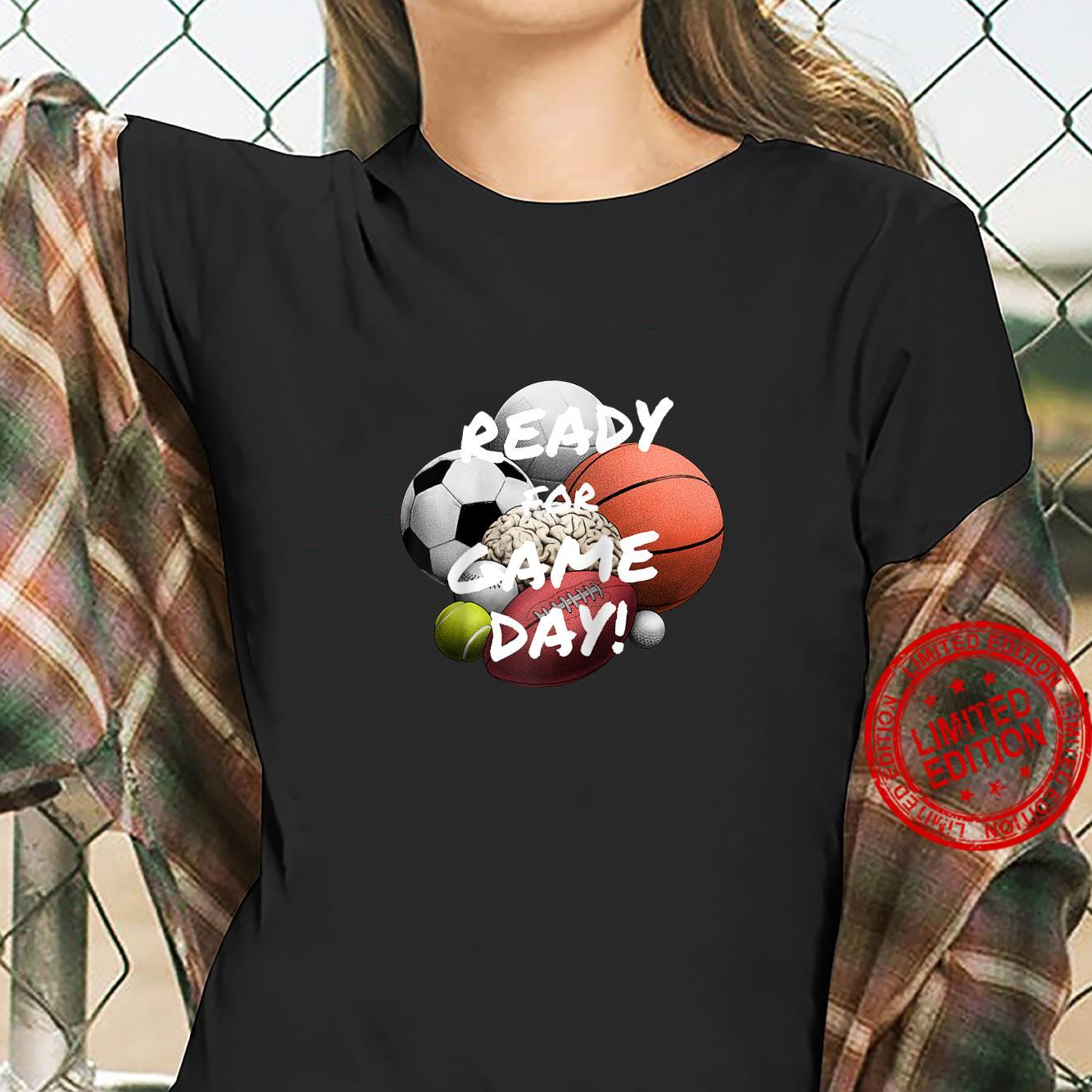 Ready For Game Day's's Boy's Girls' Sports Shirt ladies tee