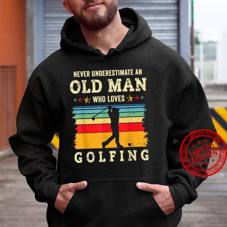 Retro 70s Old Man Golfing Joke Golf Dad Grandpa Golfer Gag Shirt hoodie