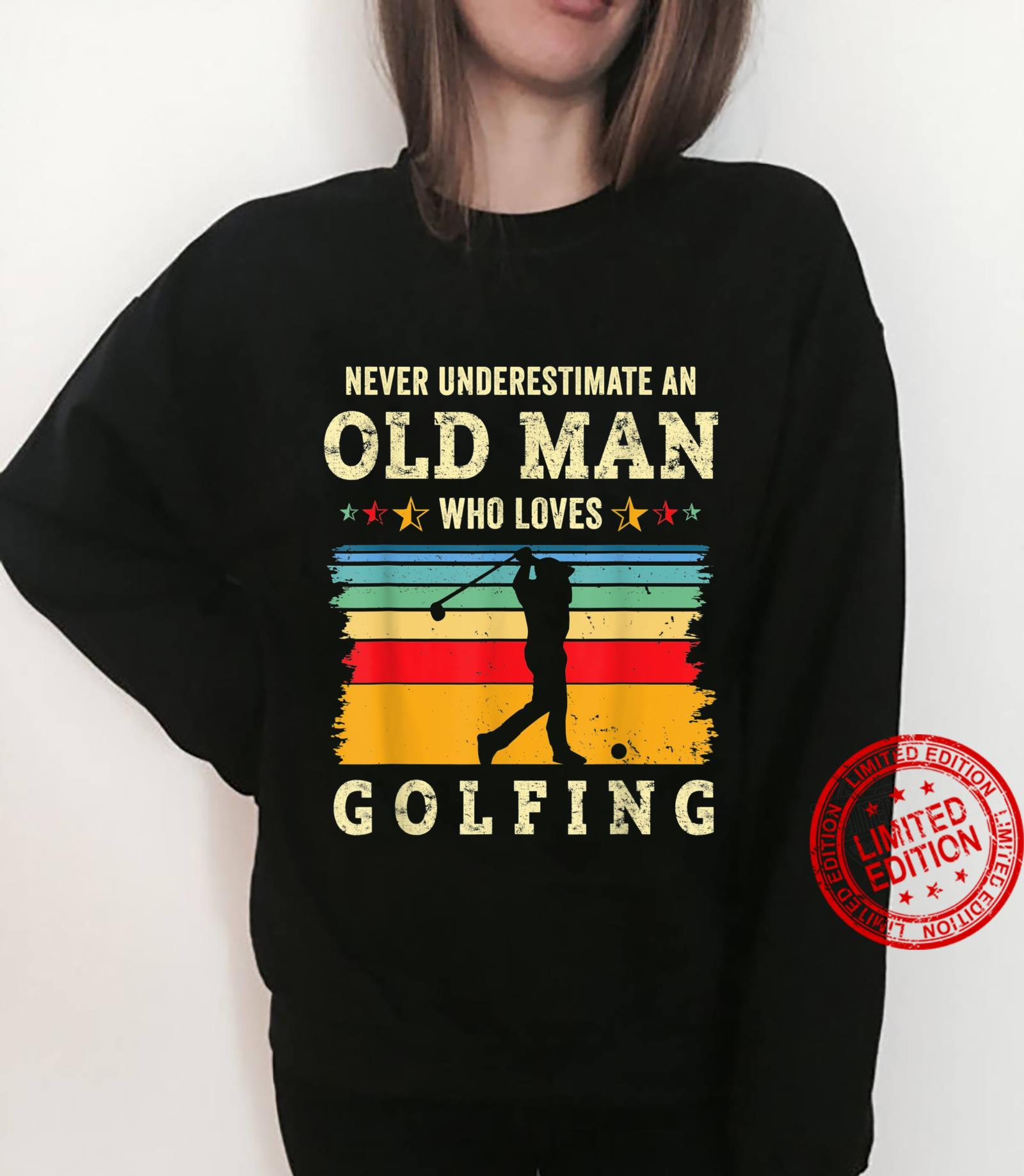 Retro 70s Old Man Golfing Joke Golf Dad Grandpa Golfer Gag Shirt sweater