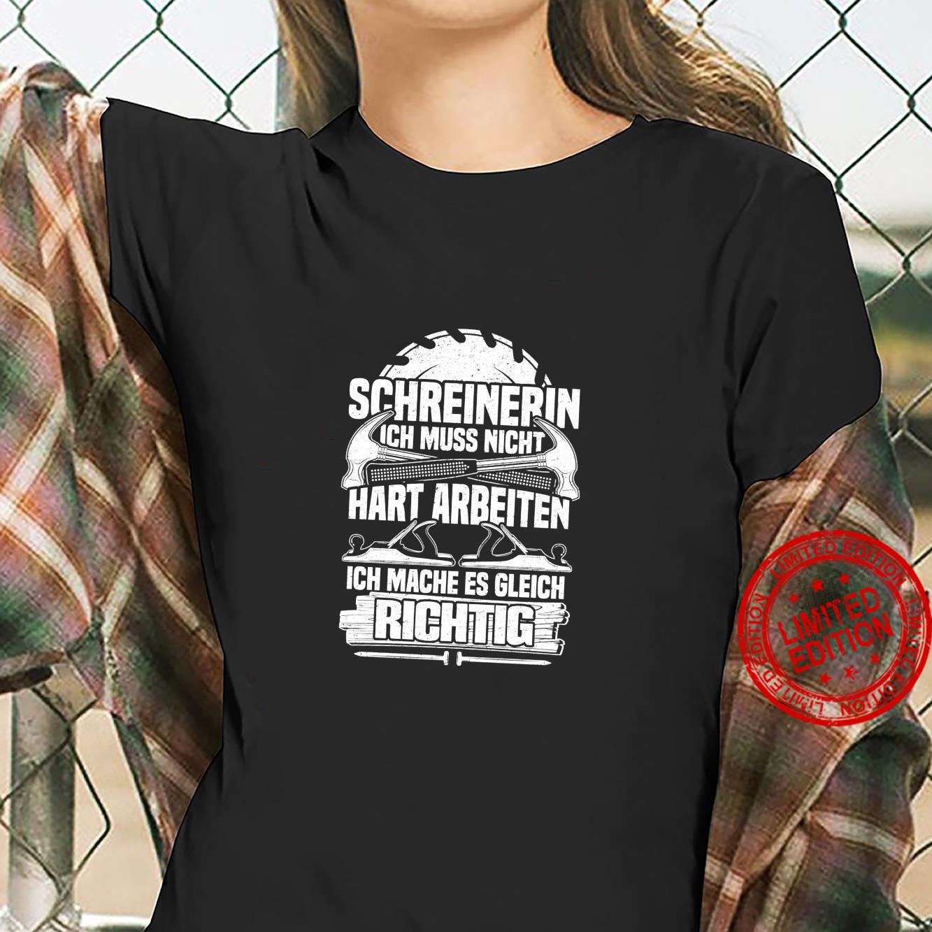 Schreinerin Lustiges Schreinerin Tischlerin Shirt ladies tee