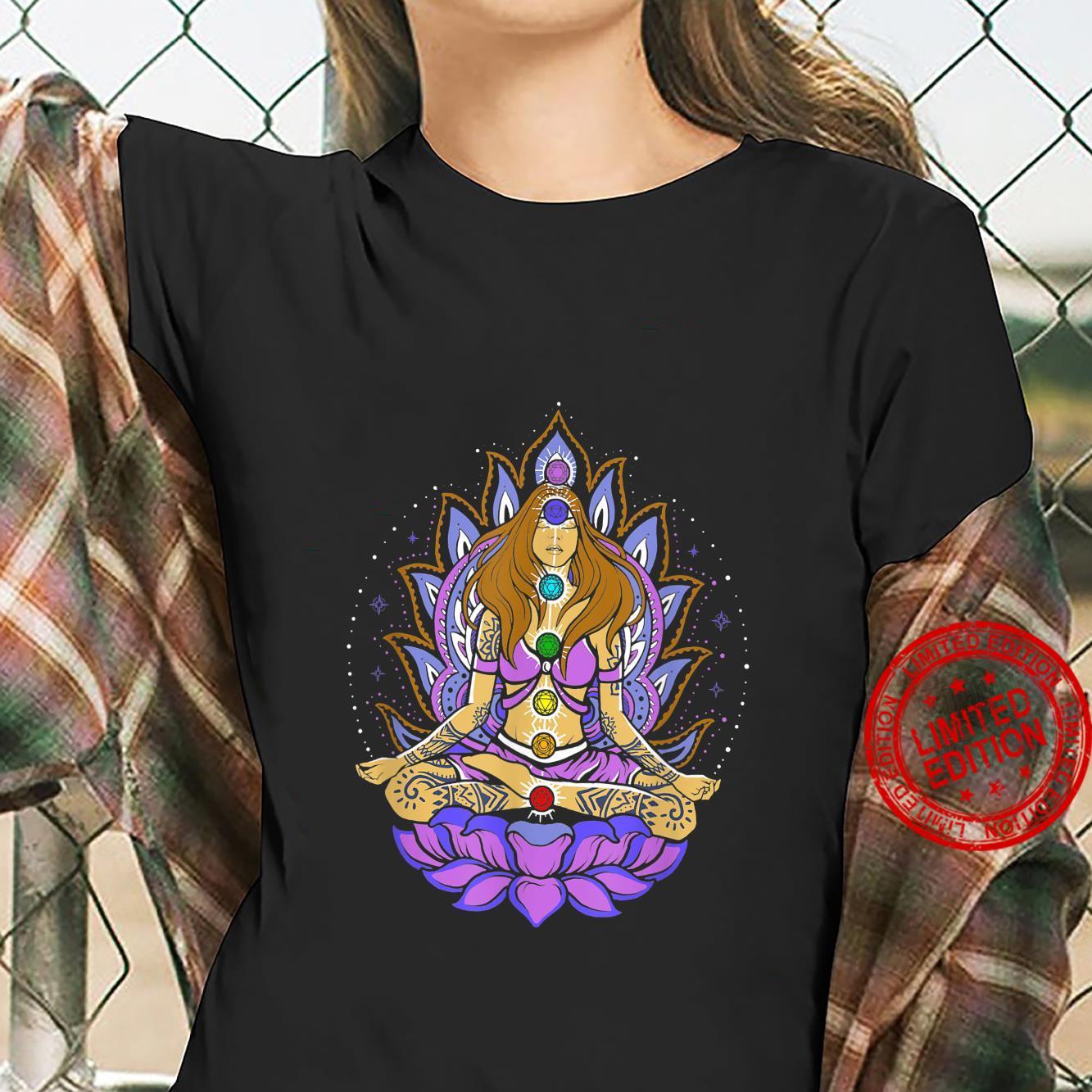 Seven 7 chakra lotus flower, meditation, peace Shirt ladies tee