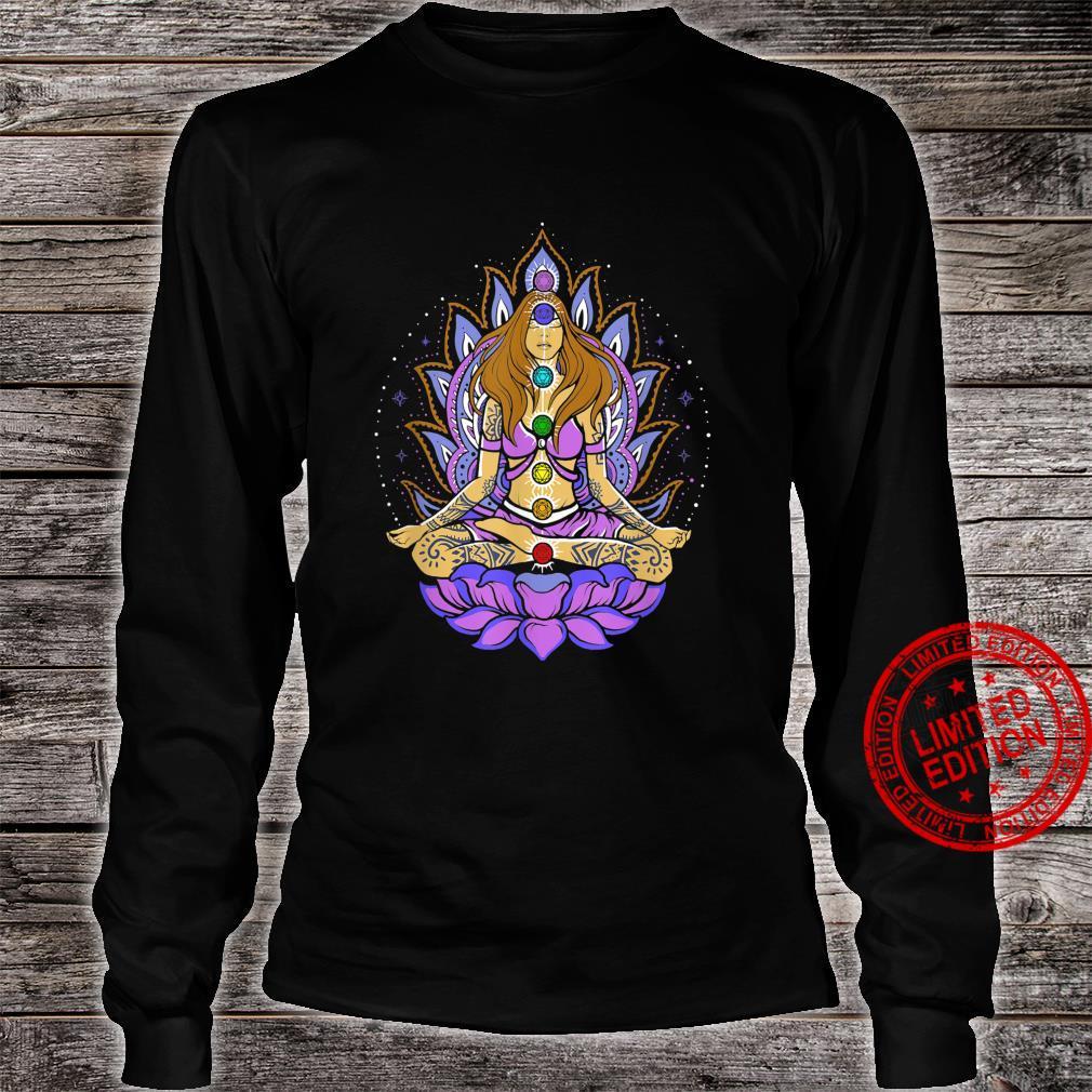 Seven 7 chakra lotus flower, meditation, peace Shirt long sleeved