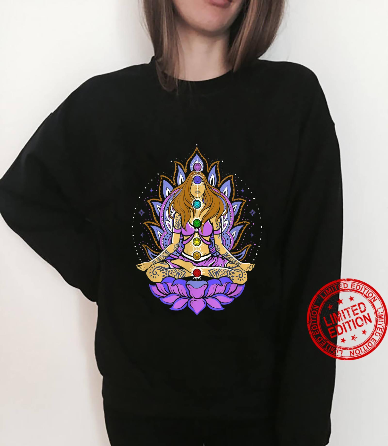 Seven 7 chakra lotus flower, meditation, peace Shirt sweater