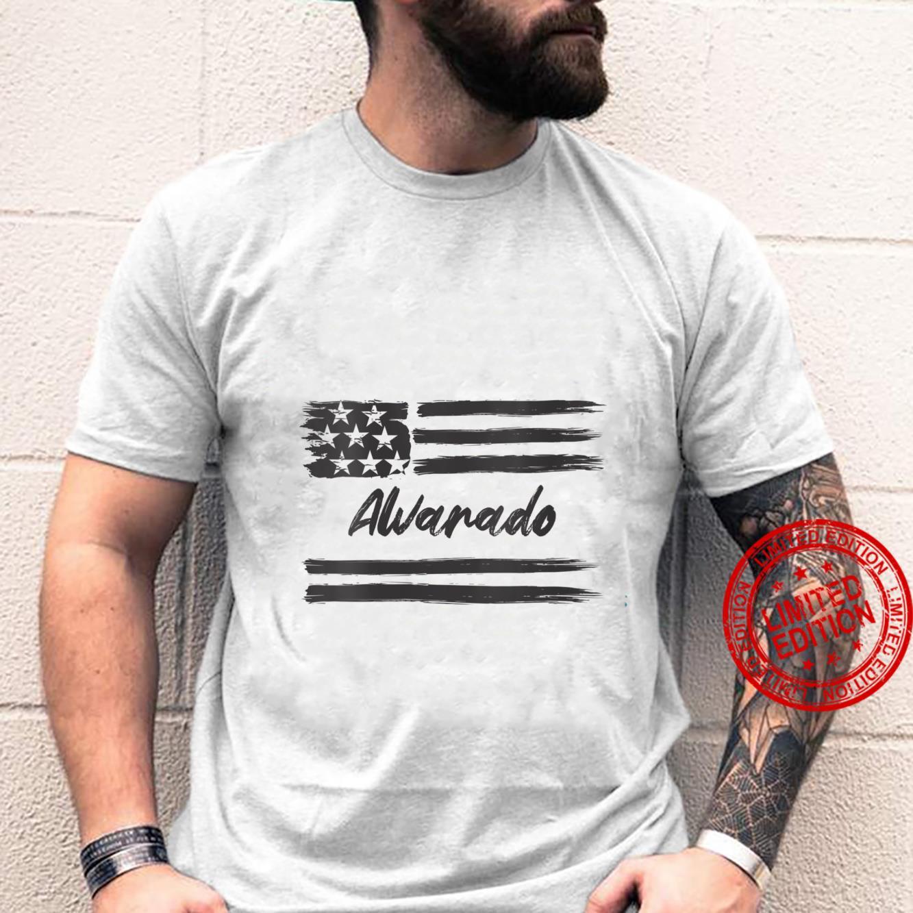 Womens Alvarado Personalized Name, Stars and Stripes, USA Flag Shirt