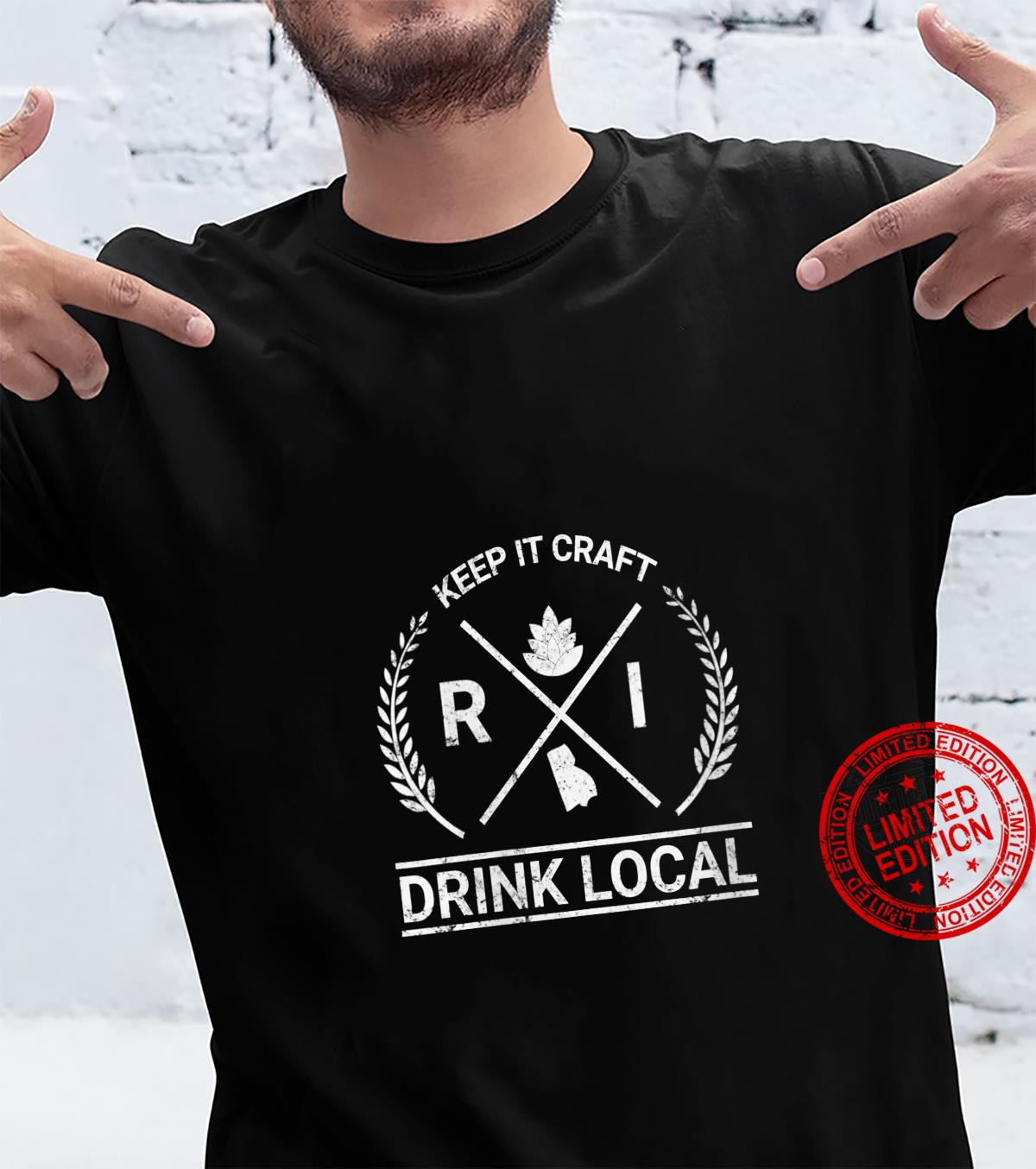 Womens Drink Local Rhode Island Vintage Craft Beer Brewing Shirt