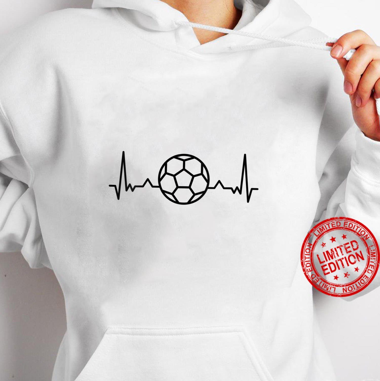 Womens Football Heartbeat Soccer Sports Shirt hoodie