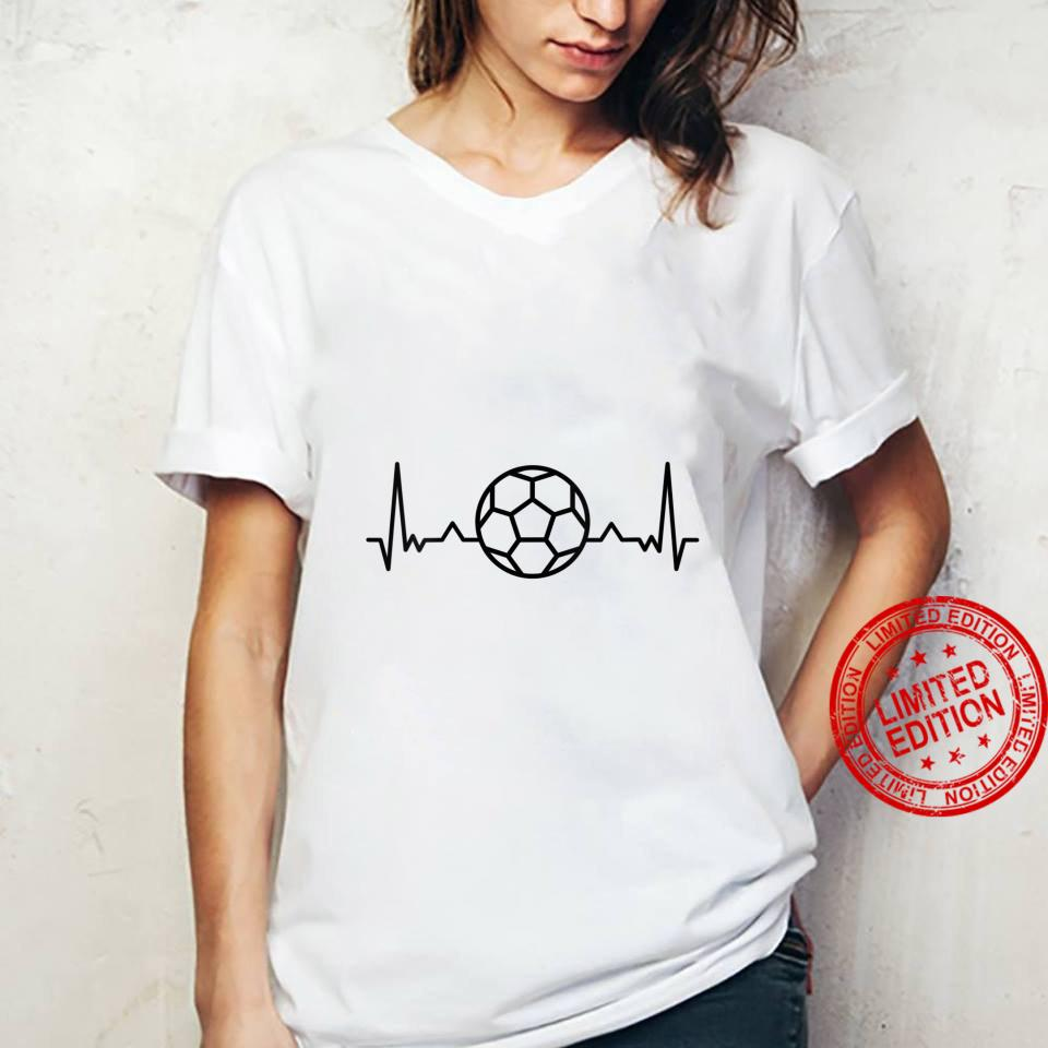 Womens Football Heartbeat Soccer Sports Shirt ladies tee