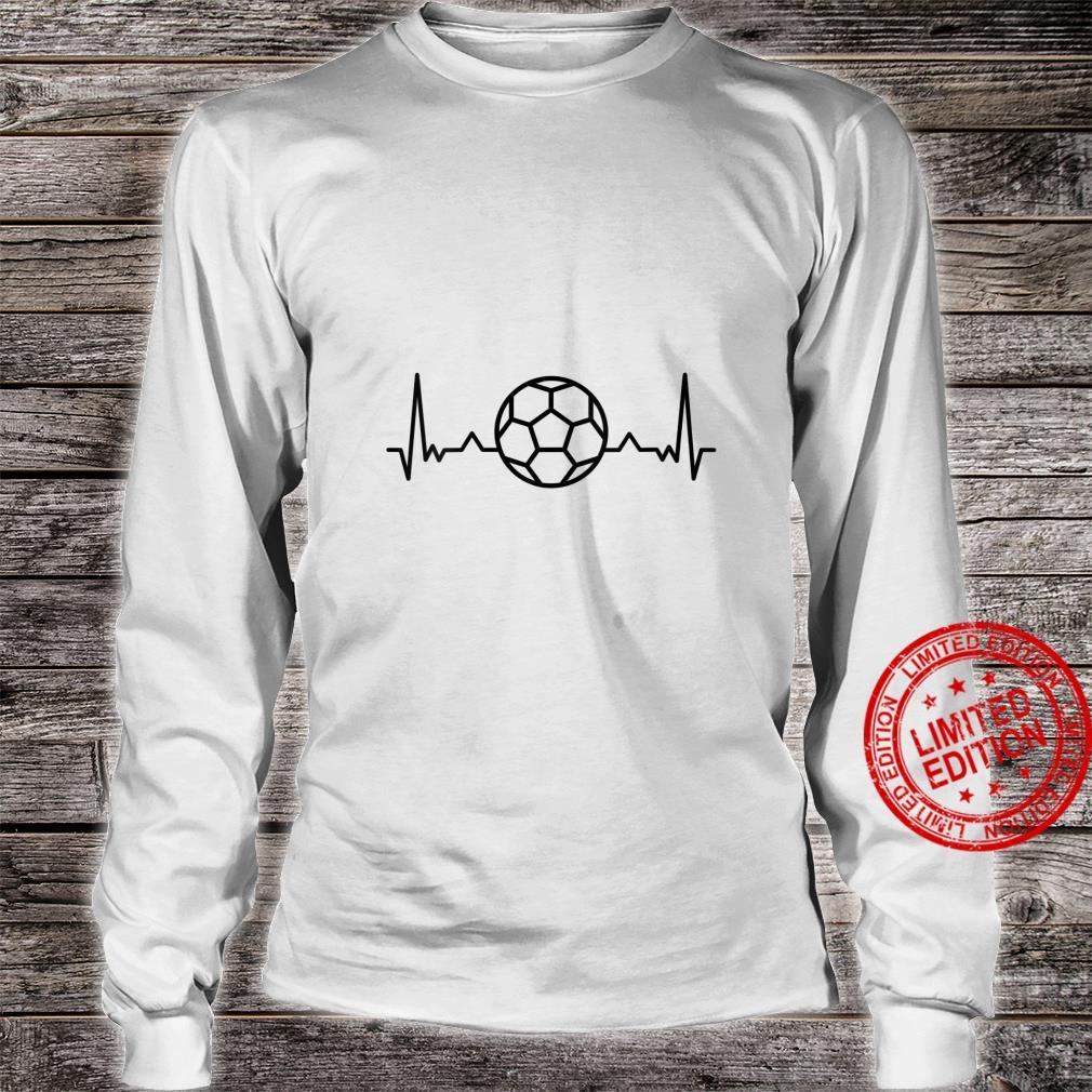 Womens Football Heartbeat Soccer Sports Shirt long sleeved