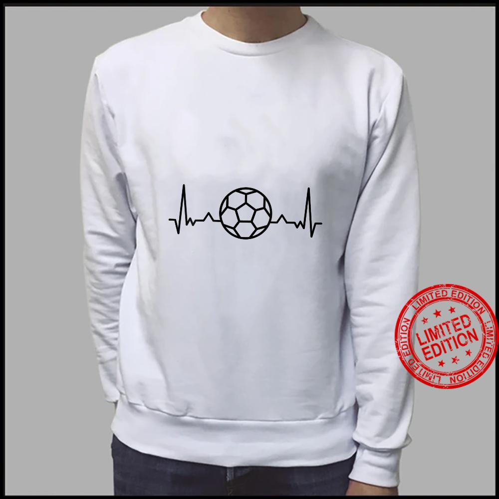 Womens Football Heartbeat Soccer Sports Shirt sweater