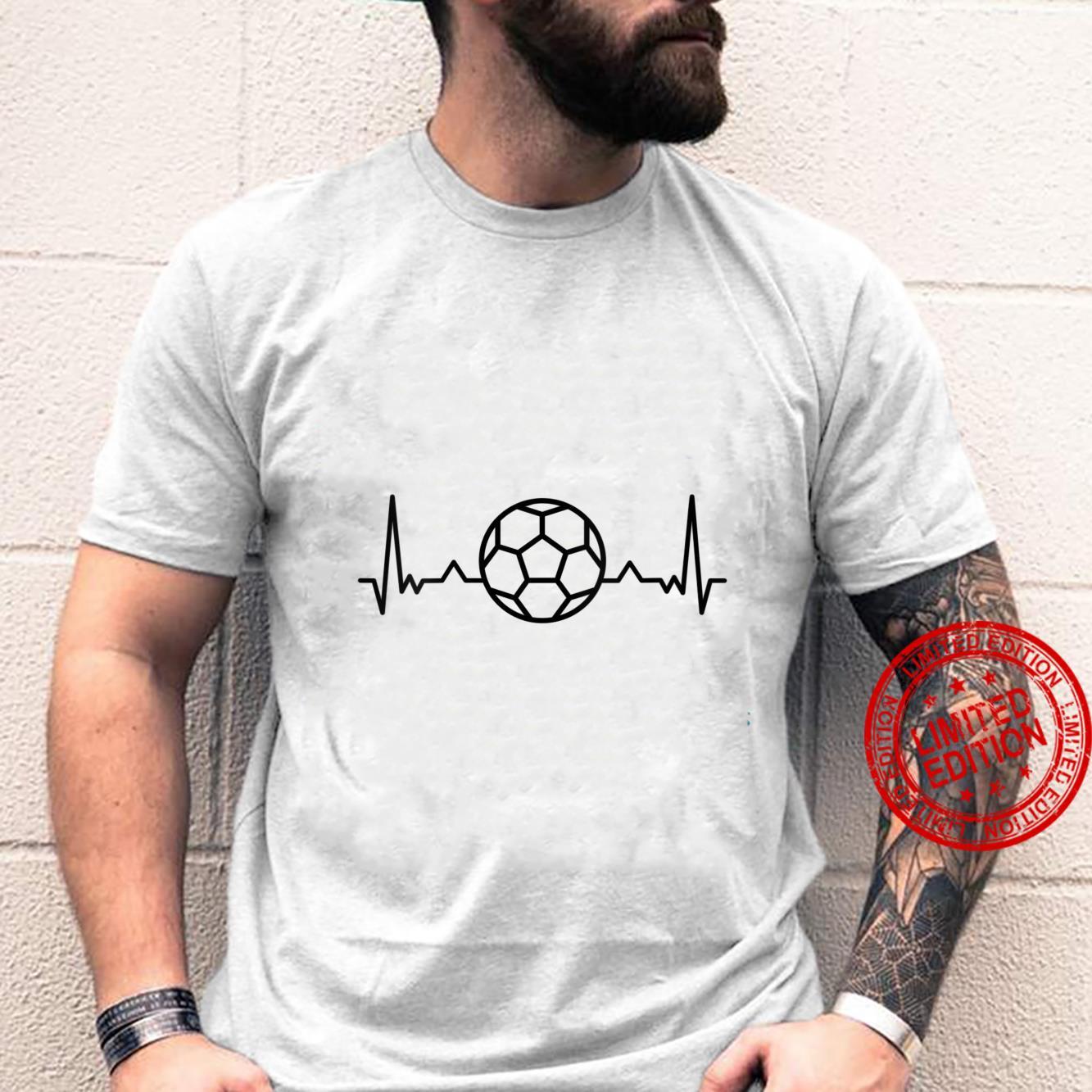 Womens Football Heartbeat Soccer Sports Shirt