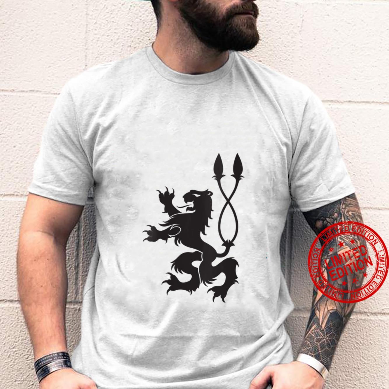Womens Lion Coat of Arms Black Lion Renaissance Shirt