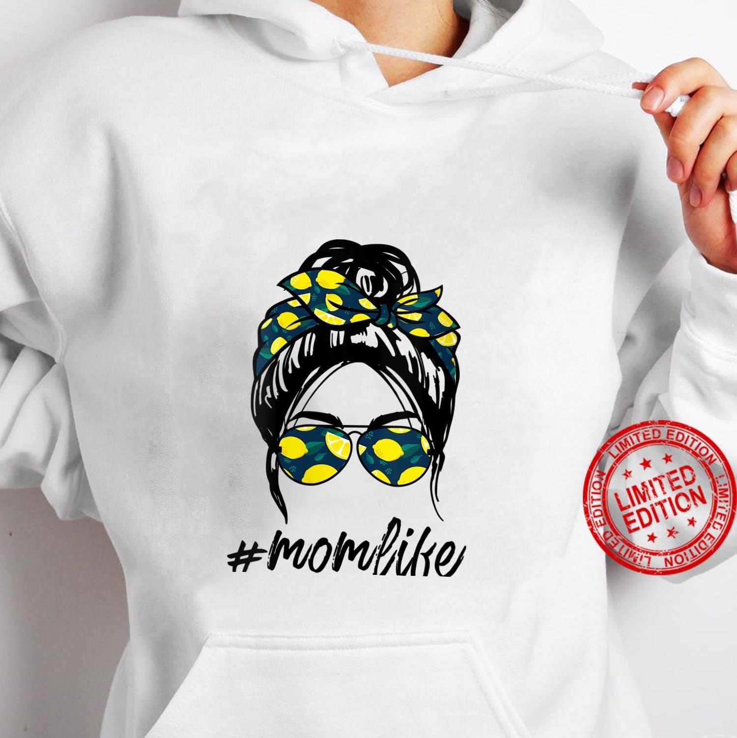Womens Mom Life yellow lemon Sunglasses & Bandana Shirt hoodie
