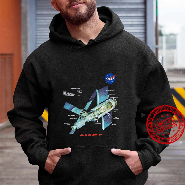 Womens NASA Skylab General Characteristics Cooler Space Art Shirt hoodie