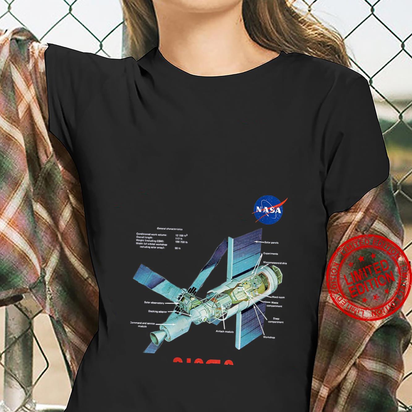 Womens NASA Skylab General Characteristics Cooler Space Art Shirt ladies tee