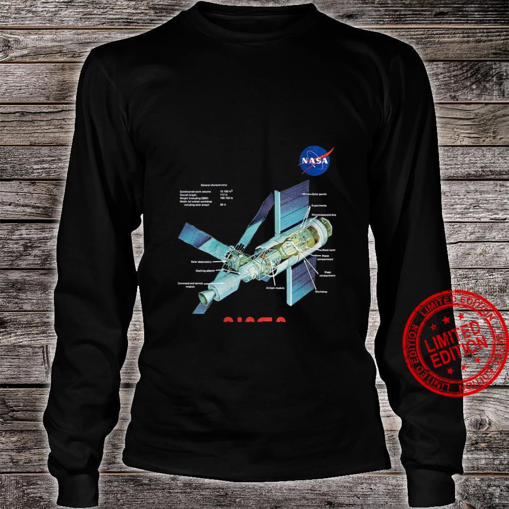 Womens NASA Skylab General Characteristics Cooler Space Art Shirt long sleeved