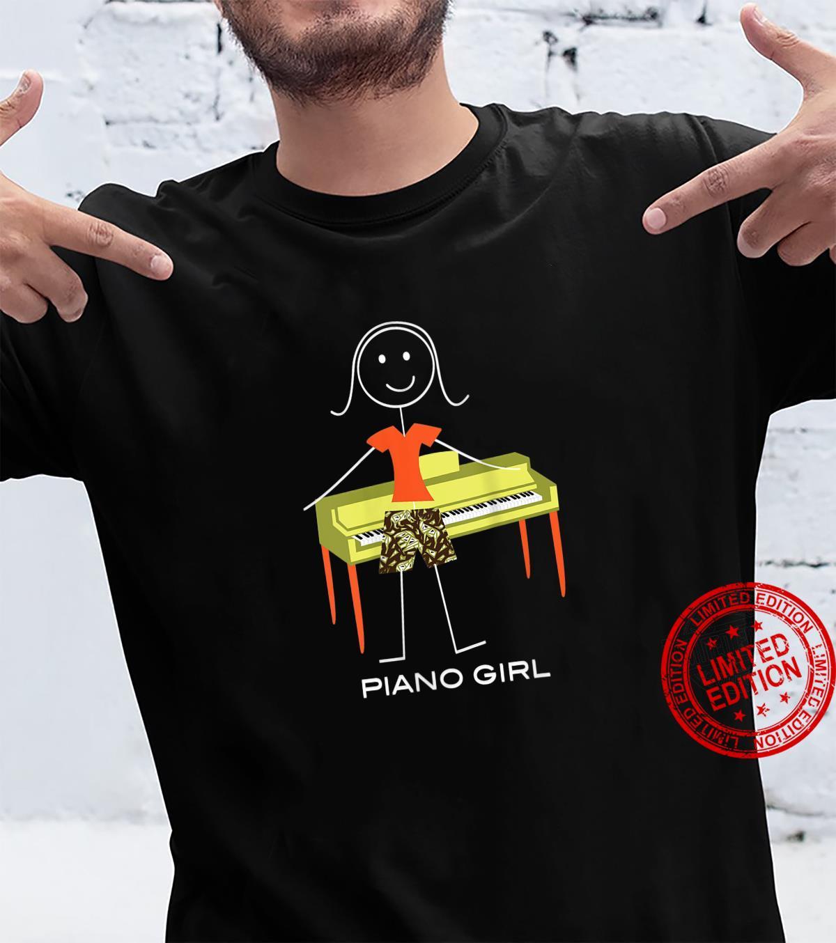 Womens Piano, Girl Musician Shirt